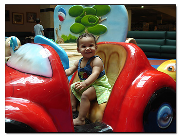 Playtown car at the Mall
